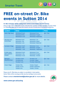 Dr Bike events in Sutton during Summer 2014 poster