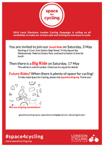 Flyer advertising the Small Ride