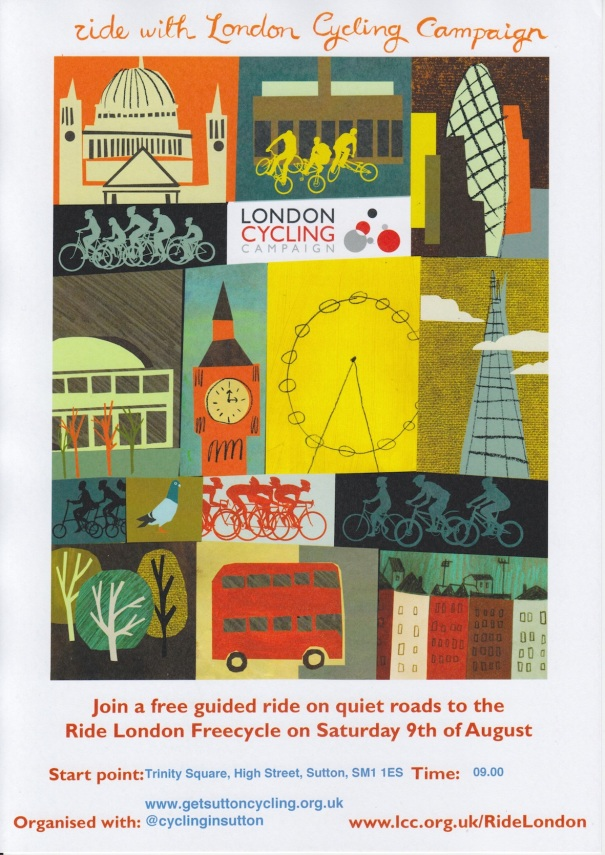 Guided ride to Freecycle poster
