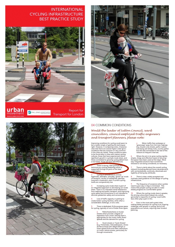 Pages from the International Cycling Infrastructure Best Practice Study (Urban Movement/Phil Jones Associates for Transport fro London; December 2014)
