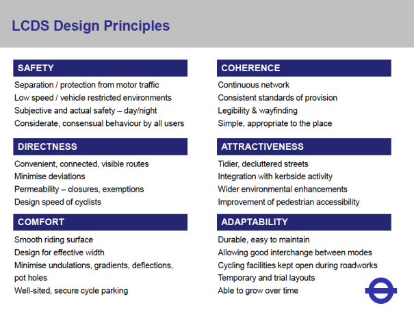 LCDS Design Principles. Detail from a presentation by Brian Deegan, 21 November 2013