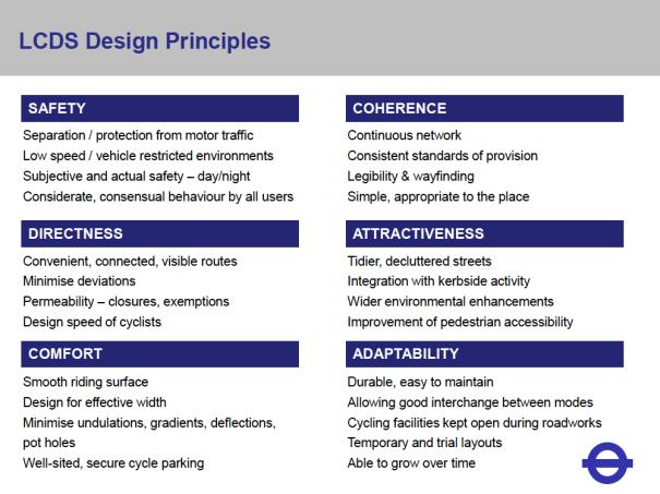 LCDS Design Principles. Detail from a presentation by Brian Deegan, 21 November 2013