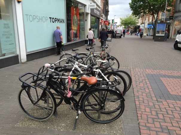 Good to see a demand for the cycling parking in Sutton High Street
