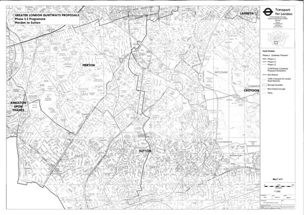 suttonsfirstproposedquietway_20160516_morden-to-sutton-route
