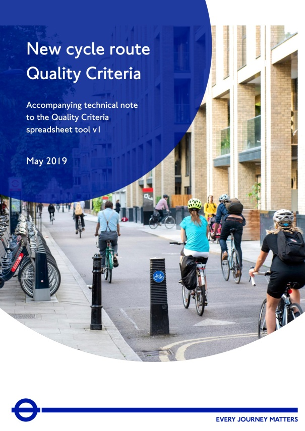 NewCycleRouteQualityCriteria_TechnicalNote_TfL_May2019_Page001_Cover